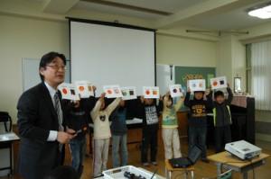 「印刷のひみつ」授業の様子